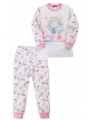 GP02-050/01п пижама детская, розовый/молочный