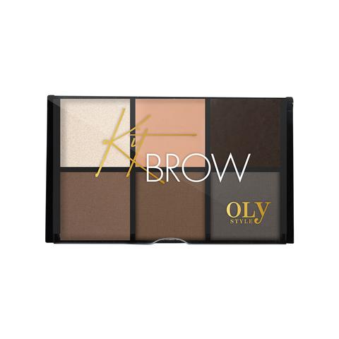 OLYSTYLE Набор для бровей Kit Brow тон 02 коричнево-серый