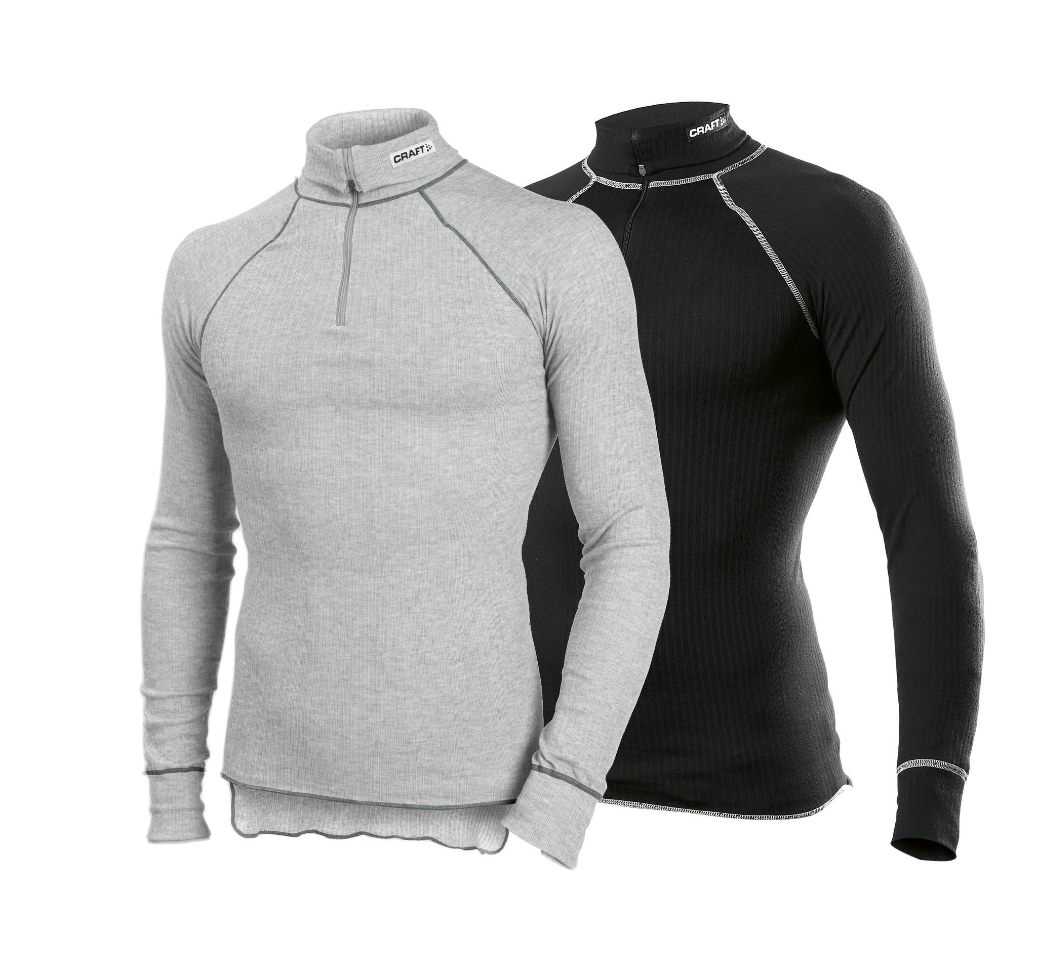 Мужской комплект рубашек Craft Active Zip Grey+Black (194034-2999-194034-3950)