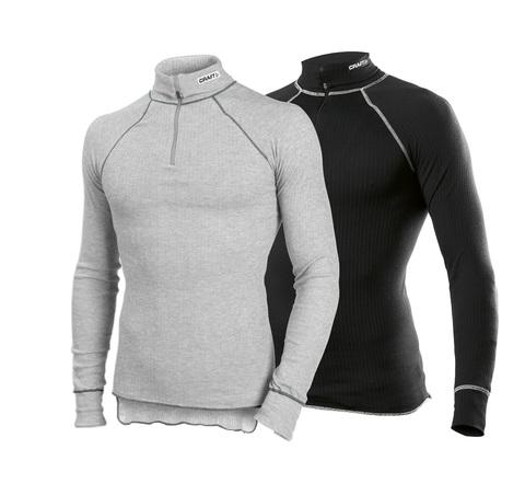 Комплект  Рубашек Craft Active Zip мужская серый + черный