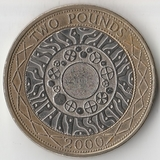 2000 P3167 Великобритания 2 фунта