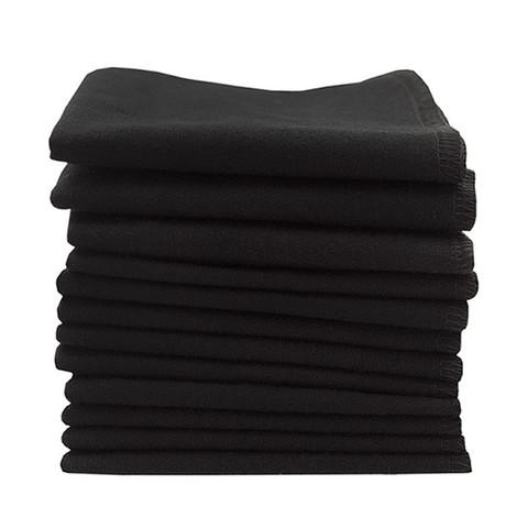Салфетки многоразовые эко хлопок, комп. 12 шт., black