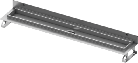 Дренажный канал для пристенного монтажа, прямой, 70 см