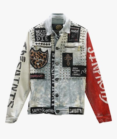 Куртка джинсовая The Saints Sinphony PUNK BLEACH JACKET