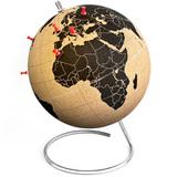 Пробковый глобус для путешественников 25 см Suck UK SK CORKGLOBE1 | Купить в Москве, СПб и с доставкой по всей России | Интернет магазин www.Kitchen-Devices.ru
