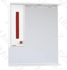 Зеркало-шкаф SanMaria Париж-65 красный, левый
