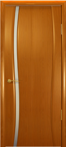 Дверь Океан Буревестник-1, стекло белое, цвет анегри, остекленная