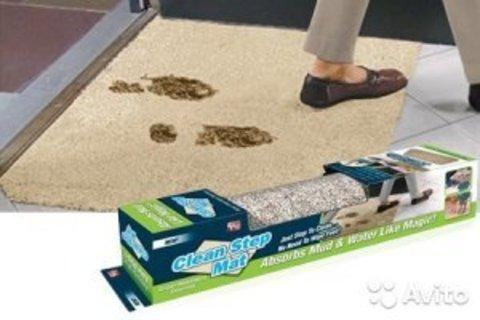 Придверный впитывающий Коврик Clean Step Mat (Ни следа) сохранит чи...