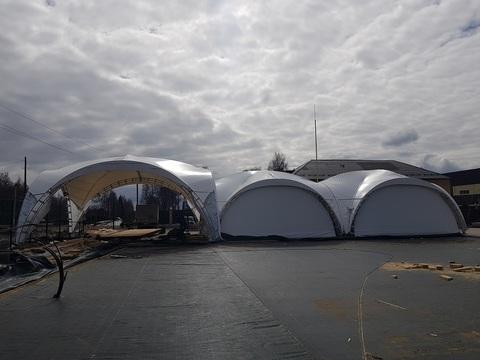 Арочный шатер дюна 8х8 с Арочным шатром дюна 10х10