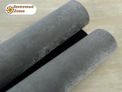 Бархат ЛЮКС для бантиков на флисовой основе серый (уценка)