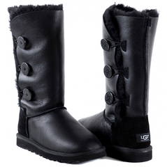 UGG Bailey Button Triplet Metallic Black