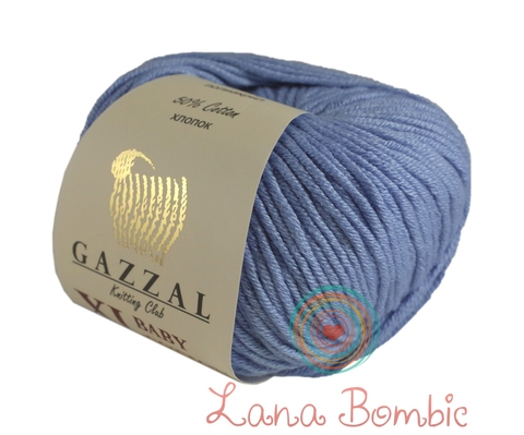 Пряжа Gazzal Baby Cotton XL голубой 3423