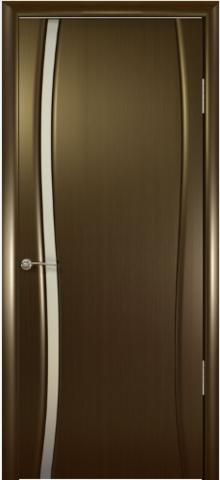 Дверь Океан Буревестник-1, стекло белое, цвет венге, остекленная