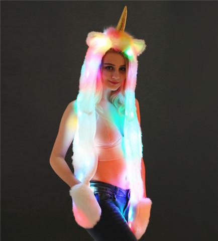 Шапка светодиодная  Единорог
