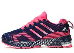 Кроссовки Женские Adidas Marathon Dk Blue Pink