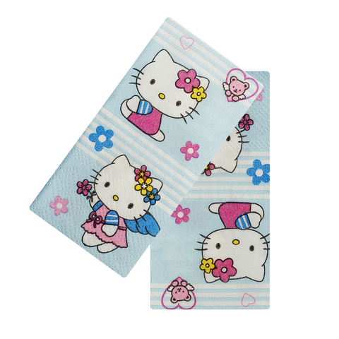 Платочки бумажные Hello Kitty Blue