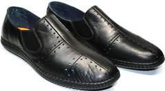 Мокасины черные мужские Luciano Bellini 107607 Black.