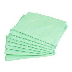 Одноразовые простыни Комфорт сложенные, зеленые, СМС, 200х70см (25шт/уп)