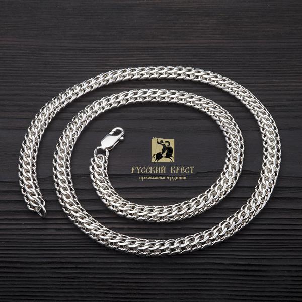 Цепь из серебра Фараон 50 - 70см / 1мм