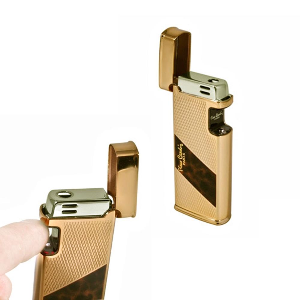 Зажигалка Pierre Cardin кремниевая газовая сенсорная, цвет позолота, 3,1х1,4х7,3см