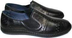 Мокасины мужские черные Luciano Bellini 107607 Black.