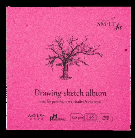 Альбом SM-LT Layflat Drawing 120г/м2 14х14см 48л белая бумага