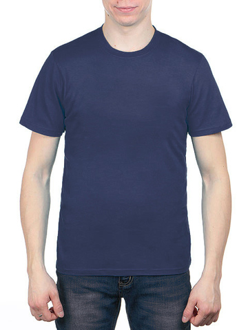 4495-7 футболка мужская, синяя