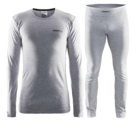 CRAFT ACTIVE COMFORT мужской комплект термобелья серый меланж