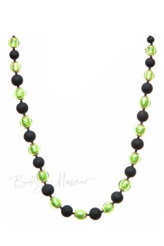 Ожерелье Domino салатовое