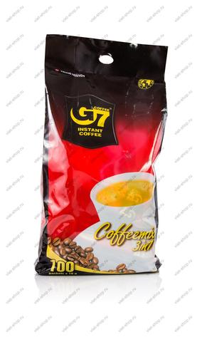 Вьетнамский растворимый кофе G7 3 в 1, 100 пак.