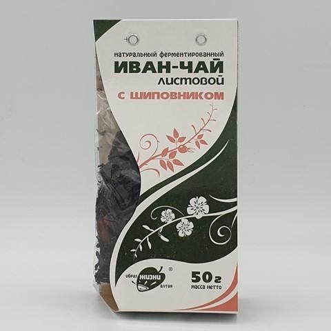 Иван-чай листовой с шиповником ОБРАЗ ЖИЗНИ, 50 гр