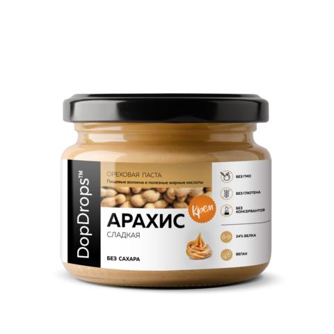 DopDrops Паста Арахисовая Крем Сладкая [без сахара]
