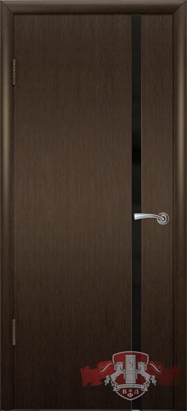8ДГ4 ТРИПЛЕКС черный, Дверь межкомнатная,Владимирская Фабрика Дверей