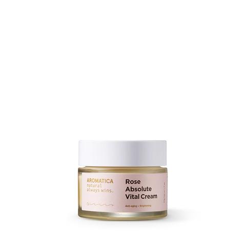 Питательный крем для лица с экстрактом дамасской розы, 50 г / Aromatica Rose Absolute Vital Cream
