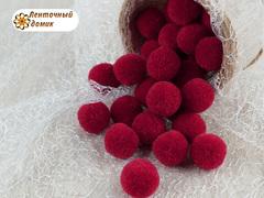 Помпоны кашемировые красные 20 мм
