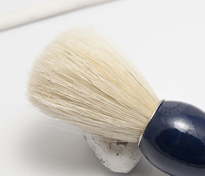 RAZ302-4 Помазок из щетины кабана с деревянной рукояткой синего цвета фото 03