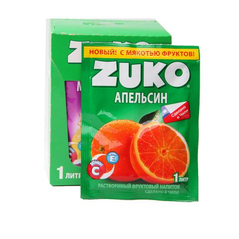 Растворимый напиток ZUKO Апельсин 1кор*8бл*12шт 25 гр.