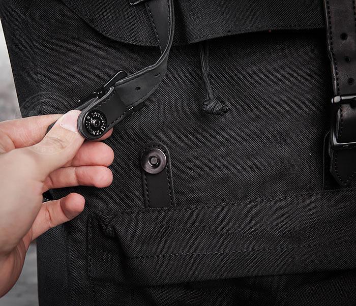BAG404-1 Мужской тканевый рюкзак черного цвета фото 06
