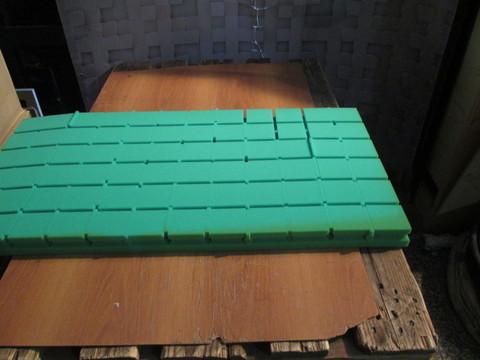 Акустический поролон Echoton Kvadra зеленый - 4 шт.