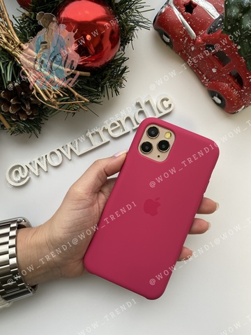 Чехол iPhone 11 Silicone Case /pomegranate/ сочный гранат original quality