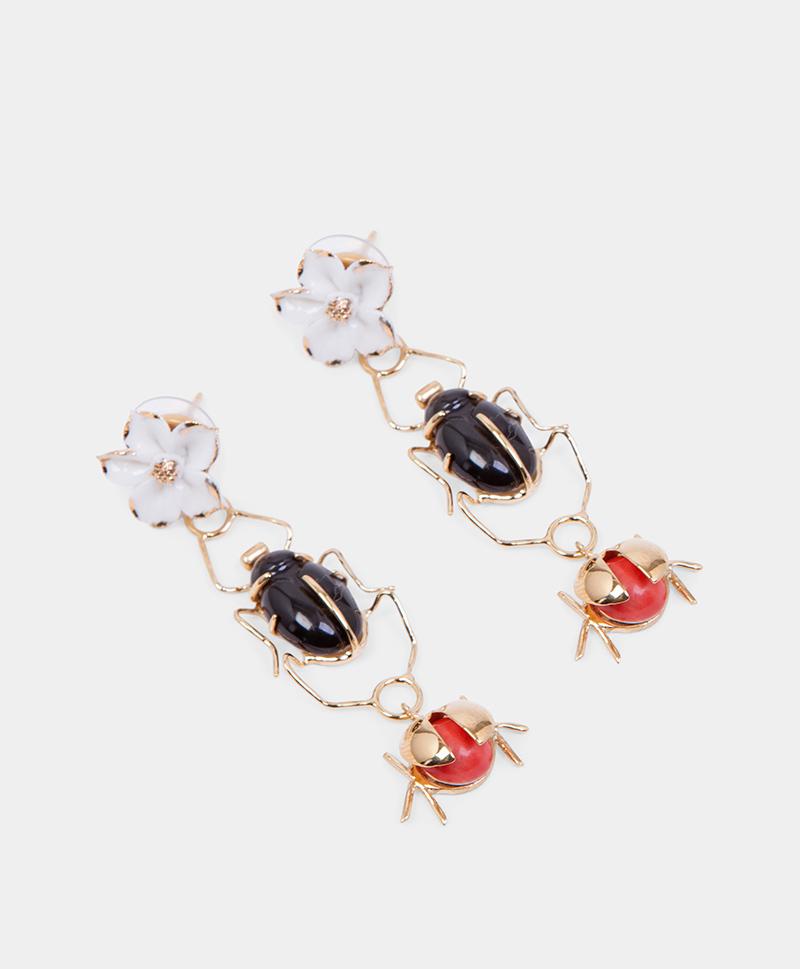 Серьги Scarab & Ladybug Colours