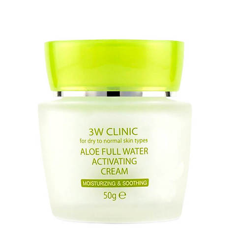 3W CLINIC Aloe Full Water Activating Cream Увлажняющий крем с алоэ