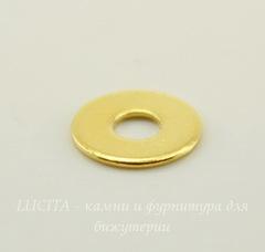 Микро-шайба TierraCast 6 мм (цвет-золото), 5 штук