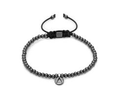 Тонкий мужской браслет Northskull North Micro String Bracelet in Gunmetal