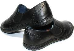 Модные мокасины мужские Luciano Bellini 107607 Black.