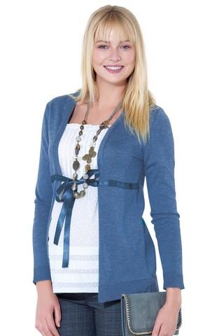 Блузка для беременных 01037 синий