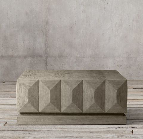 Geometric Faceted Square Coffee Table