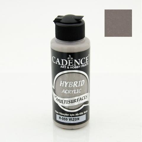 №59 Hybrid Acrylic,Серо-коричневый, 70мл., Cadence