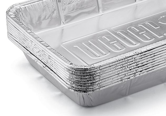 Алюминиевые поддоны для сбора жира, большие, 10 штук.