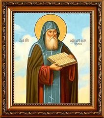 Феодор Печерский, Молчаливый, Преподобный. Икона на холсте.